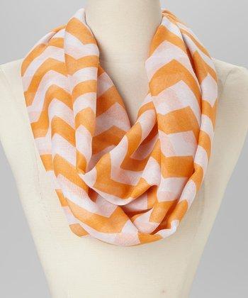 Orange & White Infinity Scarf