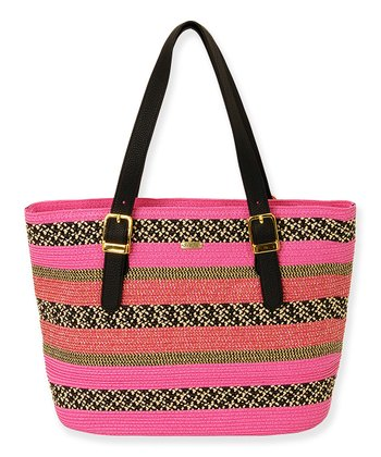 Fuchsia Solid Shoulder Tote