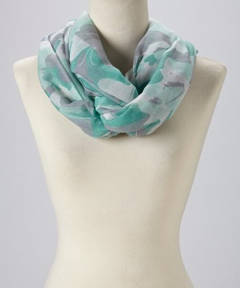 Mint Abstract Infinity Scarf