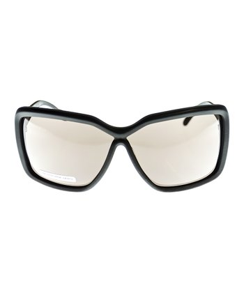 Balenciaga Dark Brown Rectangle Sunglasses