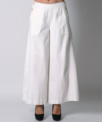 White Sailor Organic Wide-Leg Pants