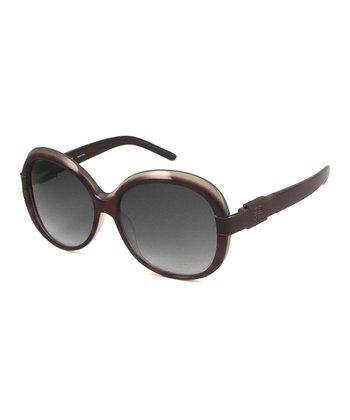 GIVENCHY Tortoise Gray Round Sunglasses