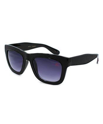 Betsey Johnson Black Horn-Rimmed Sunglasses