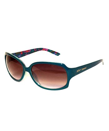 Betsey Johnson Blue Floral Sunglasses