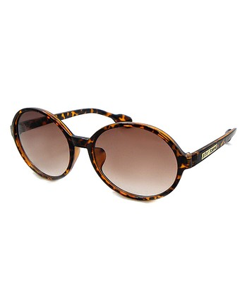 Betsey Johnson Tortoise Round Sunglasses