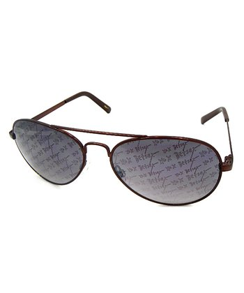 Betsey Johnson Brown 'Betsey XO' Pilot Sunglasses