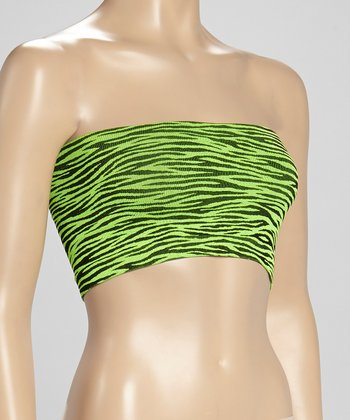 Green Zebra Seamless Bandeau - Women