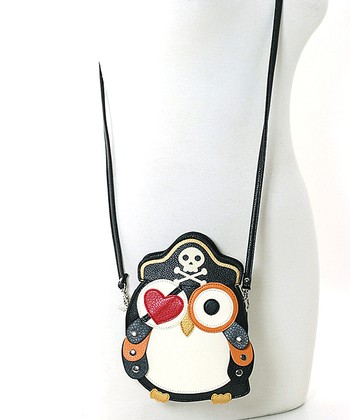 Black Pirate Owl Crossbody Bag