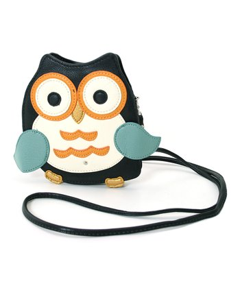 Black Owl Crossbody Bag