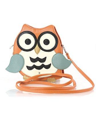 Orange Owl Crossbody Bag