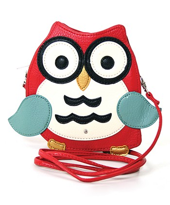 Red Owl Crossbody Bag