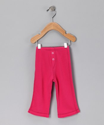 Uber Baby Lifestyles Hot Pink Waffle Pants - Infant