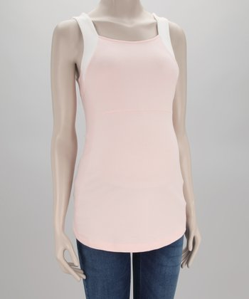 Pink Powder Detroit Maternity Tank