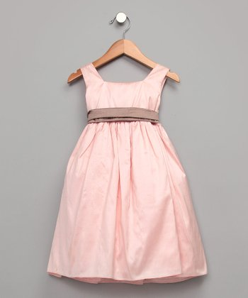 Pink Silk A-Line Dress - Toddler