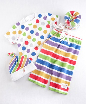 Rainbow Lollipop Top Set