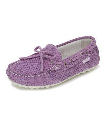 garvalin Purple Leather Moccasin