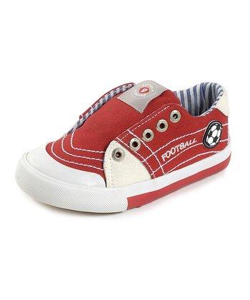 garvalin Red & White Football Slip-On Sneaker