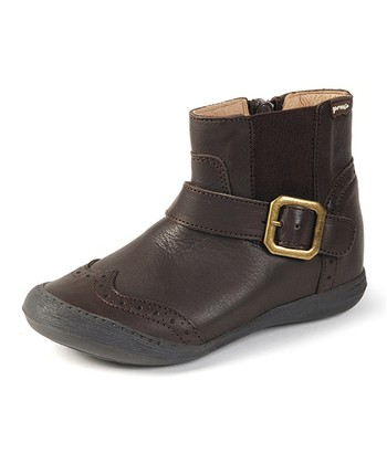 garvalin Brown Buckle Leather Ankle Boot