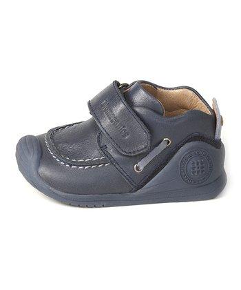 garvalin Blue Strap Leather Sneaker