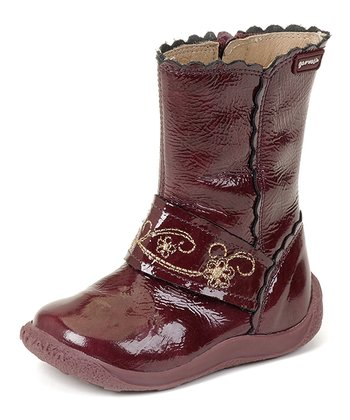 garvalin Burgundy Patent Leather Boot