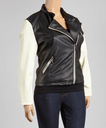 Black & White Two-Tone Jacket