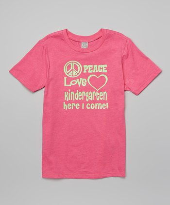 Red Hot Pink 'Kindergarten Here I Come' Tee - Toddler & Girls
