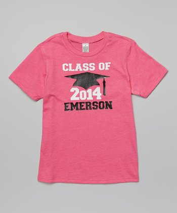 Red Hot Pink 'Class of 2014' Personalized Tee - Toddler & Girls