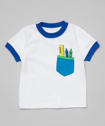 Ba Ba Bling Baby Blue Boys Rule Pocket Tee - Infant & Boys