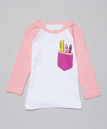 Ba Ba Bling Baby Pink Girls Rule Pocket Raglan Tee - Infant & Toddler