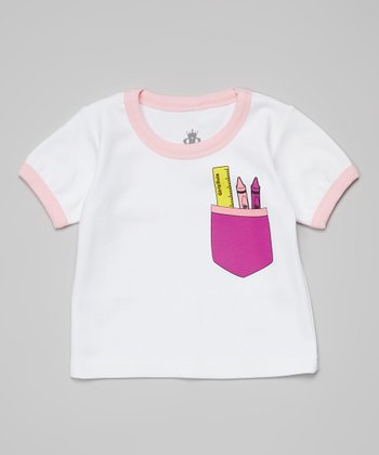 Ba Ba Bling Baby Pink Girls Rule Pocket Tee - Infant & Toddler