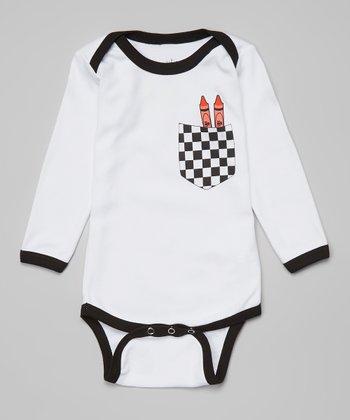 Ba Ba Bling Baby Red Crayon Pocket Bodysuit - Infant