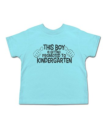 Aqua 'Promoted To Kindergarten' Tee - Toddler & Boys
