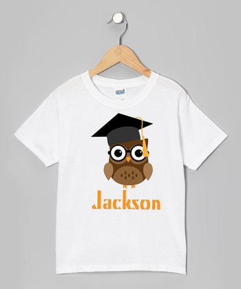 Brown Owl Graduation Personalized Tee - Girls