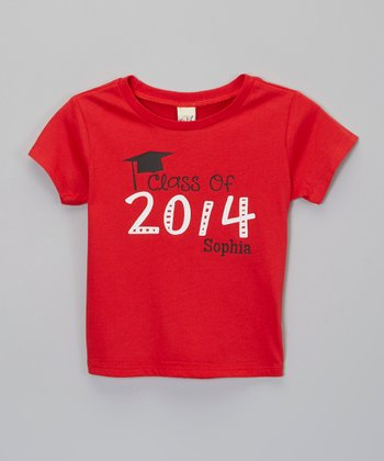 Red Graduation Personalized Tee - Infant, Toddler & Kids