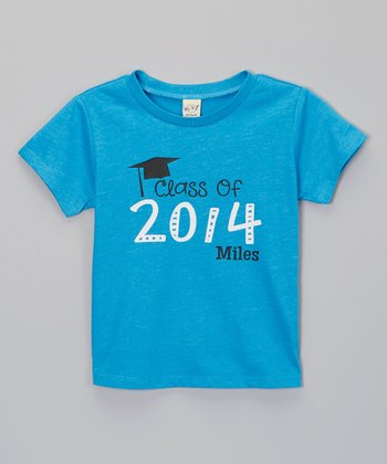 Turquoise Graduation Personalized Tee - Infant, Toddler & Kids