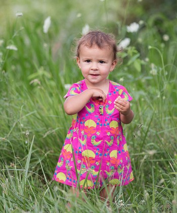 Child of the World Fuchsia Lucy Dress & Bloomers - Infant