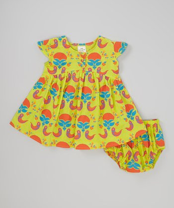 Child of the World Light Green Lucy Dress & Bloomers - Infant