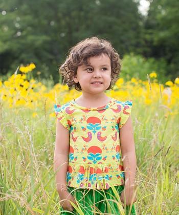 Child of the World Light Green Peplum Top - Toddler & Girls