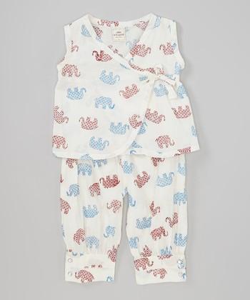 Child of the World White Elephant Lola Wrap Top & Pants - Toddler & Girls
