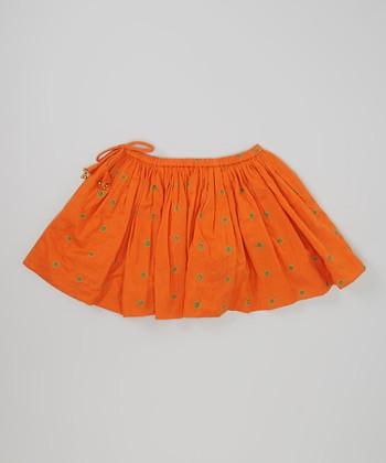 Child of the World Orange Twirly Skirt - Toddler & Girls