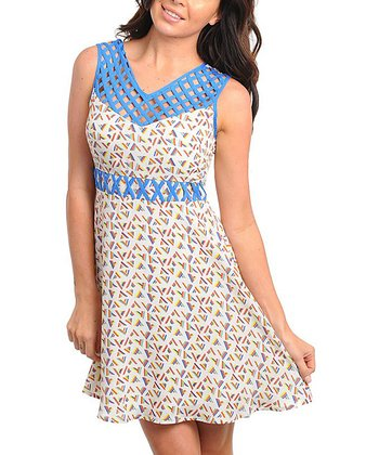 Ivory & Royal Cutout Dress