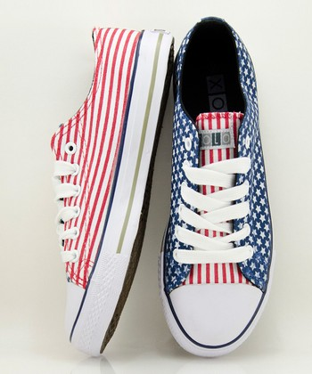 Red & Blue Yankee Sneaker - Women