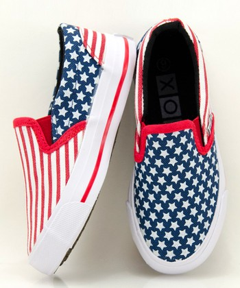 Red & Blue Yankee Slip-On Sneaker