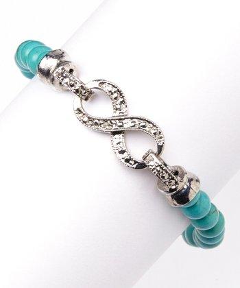 Turquoise Infinity Stretch Bracelet