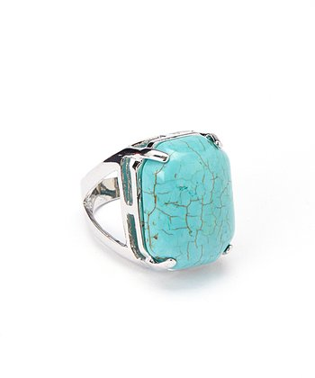 Turquoise Cutout Adjustable Ring