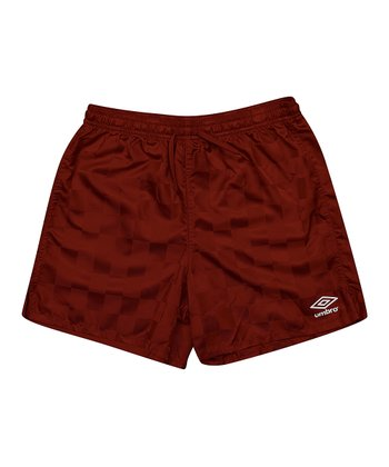 Maroon Checkerboard Shorts - Kids