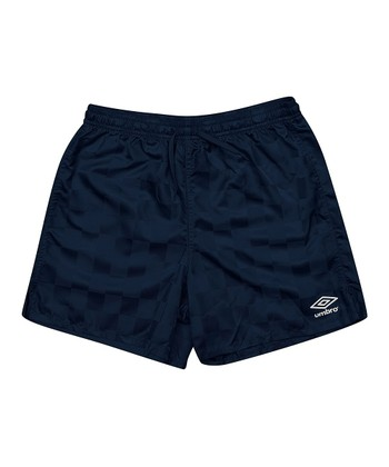 Navy Blue Checkerboard Shorts - Kids