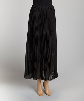 Black Pleated Skirt - Women & Plus