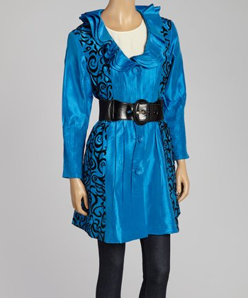 Blue Swirl Jacket - Women & Plus
