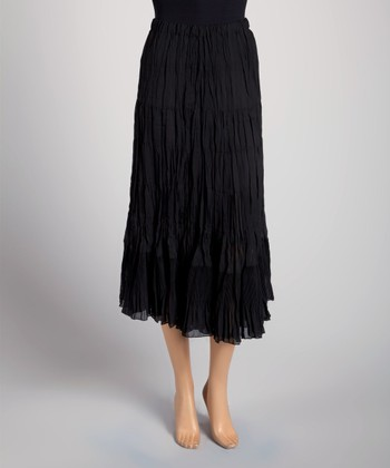 Black Tiered Pleated Skirt - Women & Plus